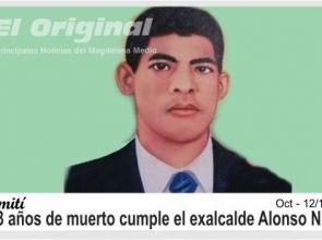 Hoy cumple 13 años de muerto el alcalde más humilde que ha tenido Simití, Alonso Niz Saavedra.