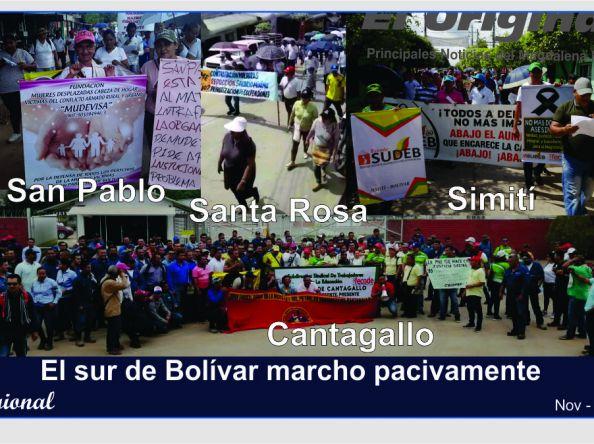 Marchas pacíficas en el sur de Bolívar