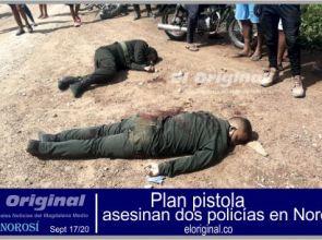 Con plan pistola asesinan dos policías en Norosí