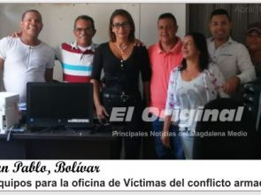 El alcalde de San Pablo, les cumple a las víctimas del conflicto armado.