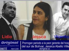Prorrogan periodo a la peor gerente del hospital del sur de Bolívar, Jessica Abello Villegas.