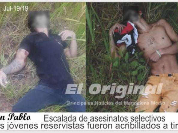 Escalada de asesinatos selectivos, dos jóvenes reservistas fueron acribillados a tiros