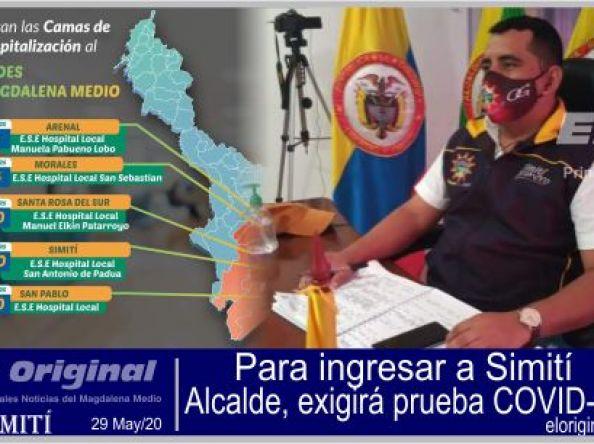 Simití, creará broche de seguridad y exigirán prueba COVID-19 para ingresar al municipio