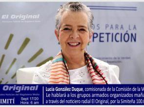 Lucía González Duque, comisionada de la Comisión de la Verdad, le hablará a los actores armados del sur de Bolívar.