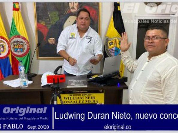Ludwing Duran Nieto, nuevo concejal de San Pablo
